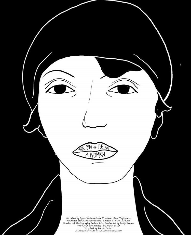 Kadın Olmanın Günahı filmine ait bir afiş